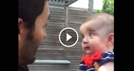 Apa bébifilozófiával tömi gyermeke fejét- A pici arckifejezése hihetetlenül aranyos!
